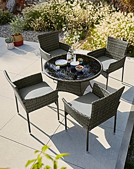 Cadiz 4 Seater Circular Dining Set
