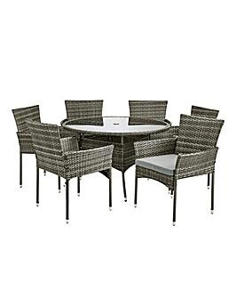Cadiz 6 Seater Circular Dining Set