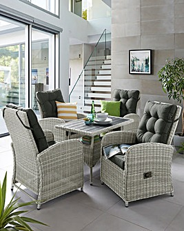 Sorrento Rattan Reclining Dining Set