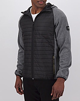 Voi Mixed Fabric Tech Hoody