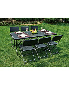 Palermo Blow Moulded 6 Seater Set
