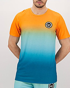 Hype Orange Summer Fade T-Shirt Long