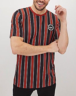 Hype Baseball Striped T-Shirt Long