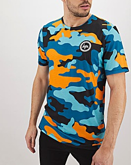 Hype Orange Camo T-Shirt Long