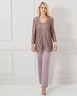 Nightingales Lace 3 Piece Trouser Set