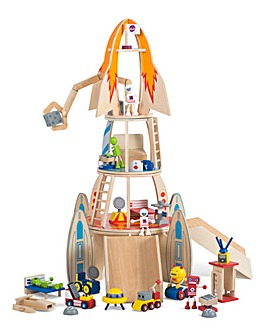 Plum Super Space Rocket Wooden Play Set