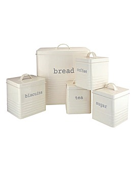 Kitchen Storage Cream 5 Piece Set