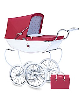 Personalised Silver Cross Rosebud Pram
