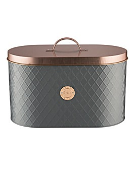 Typhoon Living Copper & Grey Bread Bin
