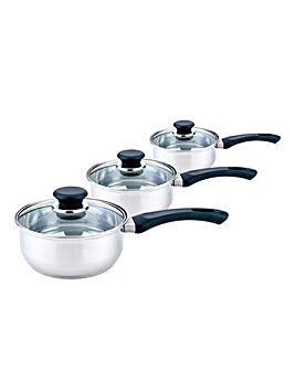 Sabichi Stainless Steel 3pc Pan Set