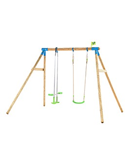 TP Nagano Wooden Double Swing Set