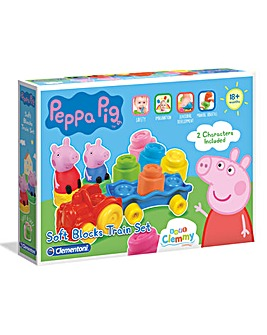 Baby Clementoni Peppa Pig Soft Block Train Set