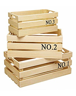 Natural Elements Wooden Storage Crates
