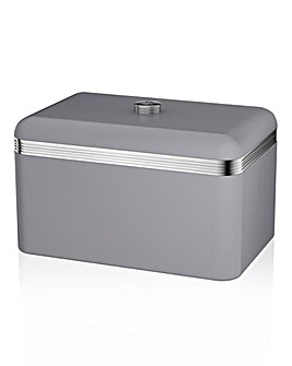 Swan Retro Bread Bin Grey