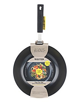 Salter 28cm Pan for Life Preseasoned Wok