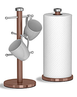 Morphy Richards Mug Tree & Towel Pole Set
