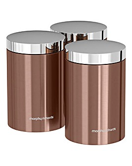 Morphy Richards Set of 3 Storage Canisters