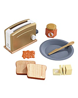 Kidkraft Wooden Toaster Set - Metallics