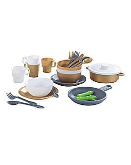 Kidkraft 27-Piece Cookware Set - Modern Metallics