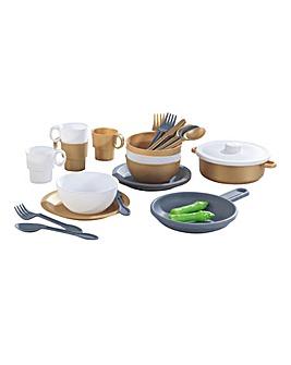 Kidkraft 27-Piece Cookware - Metallics