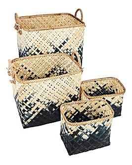 Set of 4 Bamboo Baskets