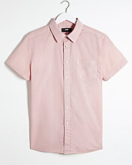 Light Pink Short Sleeve Poplin Shirt Long