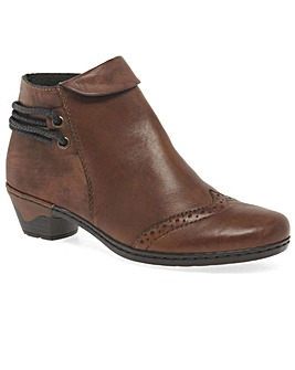 Rieker Harper Womens Brogue Ankle Boots