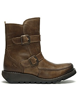 Fly London Sann Leather Ankle Boots