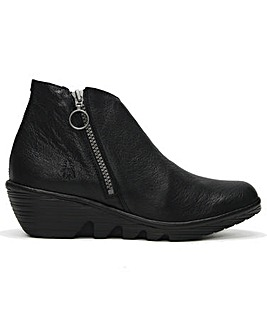 Fly London Poro Leather Ankle Boots