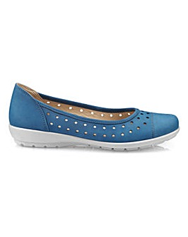Hotter Livvy Wide Fit Ballerina Shoe