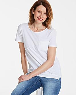 Scoop Slub Pocket T-shirt