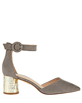 Monsoon Marla Metallic Heel Two Part