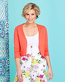 Coral Jersey Shrug
