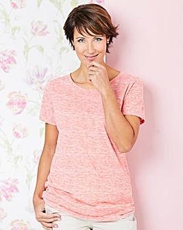 Coral Burnout T-shirt
