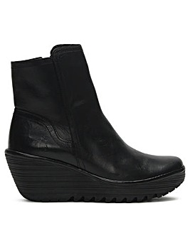 Fly London Yeti Low Wedge Ankle Boots