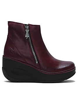 Fly London Jome Zip Wedge Ankle Boots