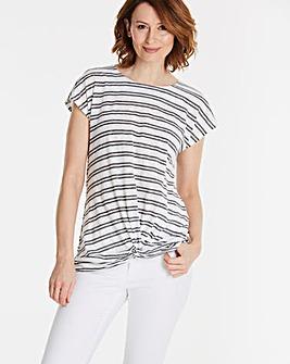 Twist Front Short Sleeve Top