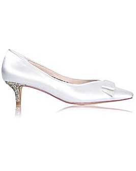 Perfect Stacey Glitter Low Heel Court