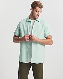 Mint Short Sleeve Linen Fit Shirt