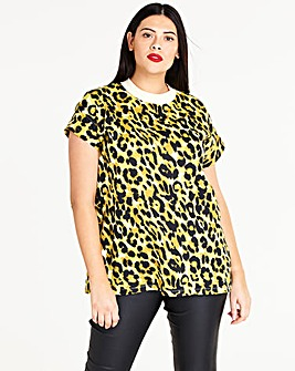 Leopard Simply Be High Neck Value TShirt