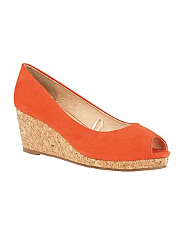 Lotus Odina Wedge Peep-Toe Shoes