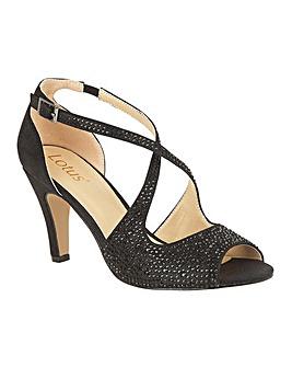 Lotus Rosa Stiletto Open-Toe Shoes