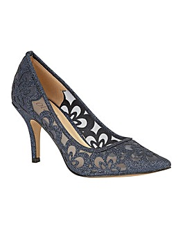 Lotus Sparkle Stiletto Court Shoes