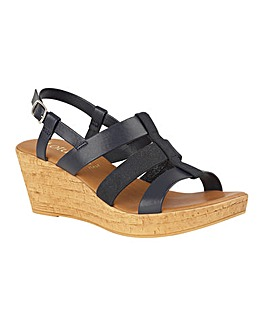 Lotus Pisa Wedge Sandals Standard D Fit
