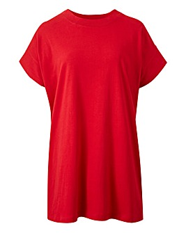 Red Simply Be High Neck Value T Shirt