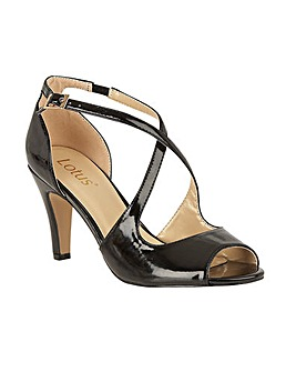 Lotus Rosalie Patent Open-Toe Shoes