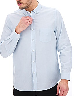 Sky Blue Long Sleeve Oxford Shirt Long