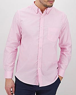 Baby Pink Long Sleeve Oxford Shirt Long