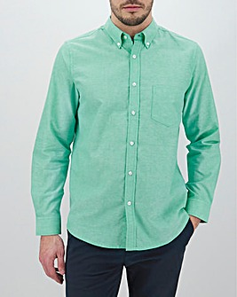 Green Long Sleeve Oxford Shirt Long
