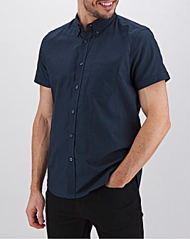 Navy Short Sleeve Oxford Shirt Long